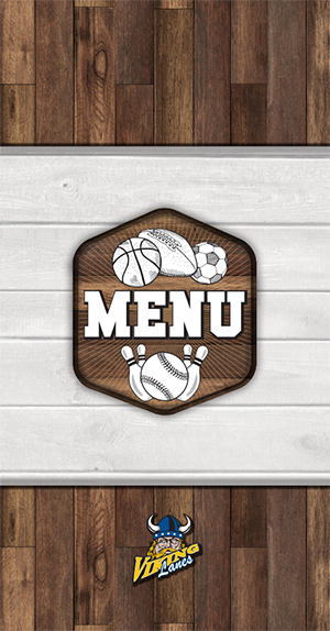 Viking Lanes Menu