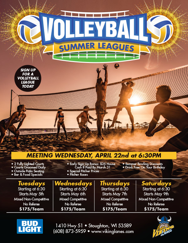 Volleyball 2020 Summer Leagues